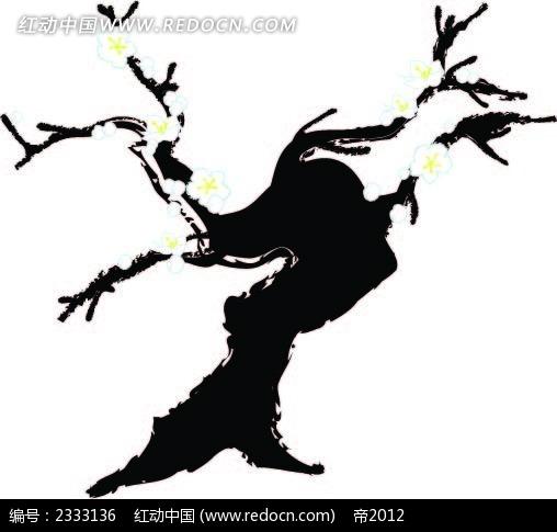 炭笔画梅树AI素材免费下载 编号2333136 红动网