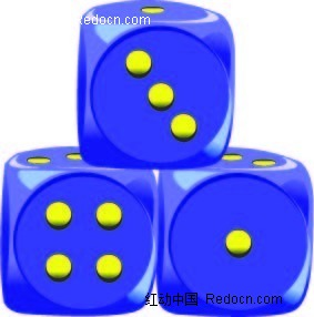 骰子手绘立体图形
