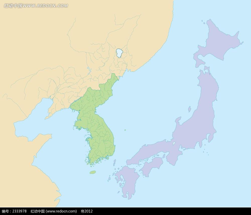 朝鲜半岛和日本地图ai
