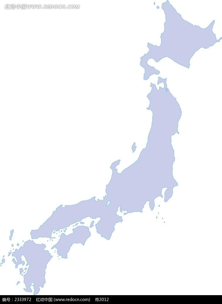 日本地图ai图片