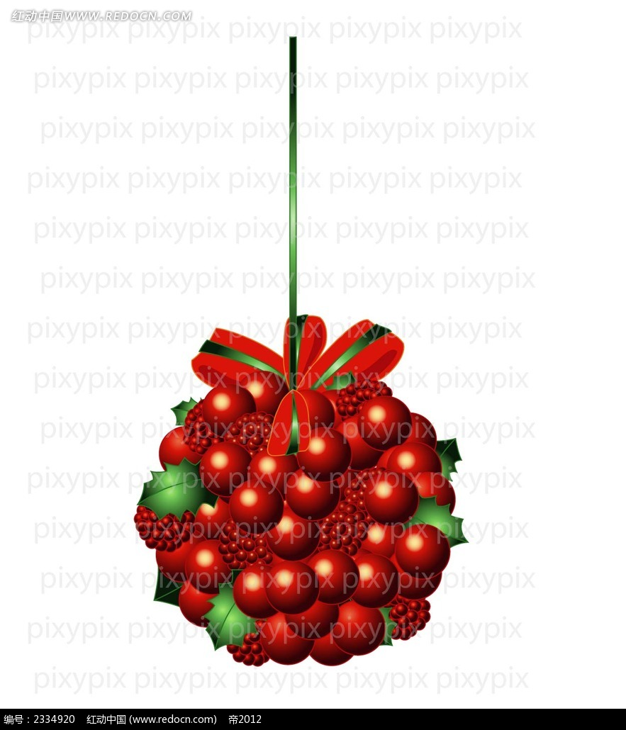 圣诞球手绘立体画