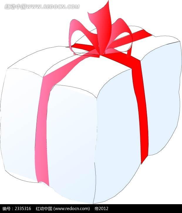 白色软包装盒手绘图