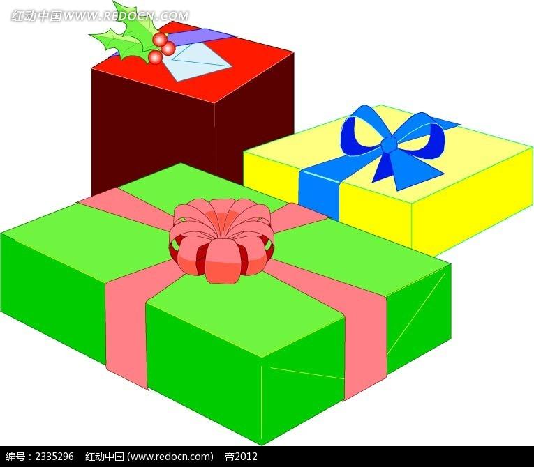 立体礼物盒手绘画