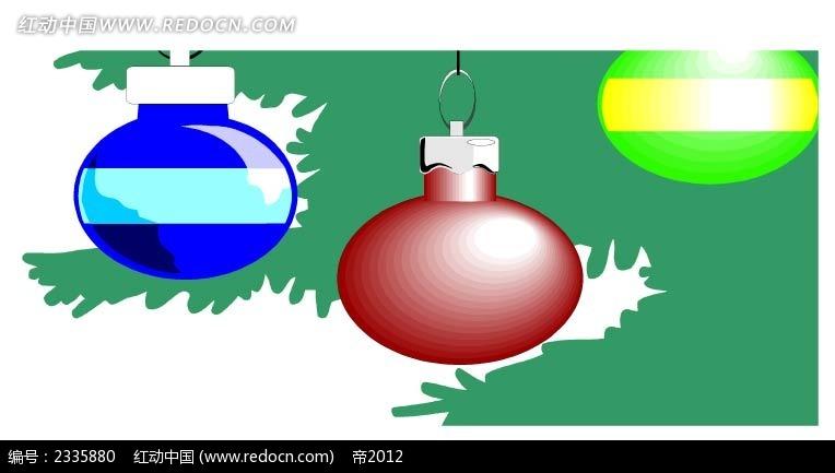 圣诞球背景手绘画