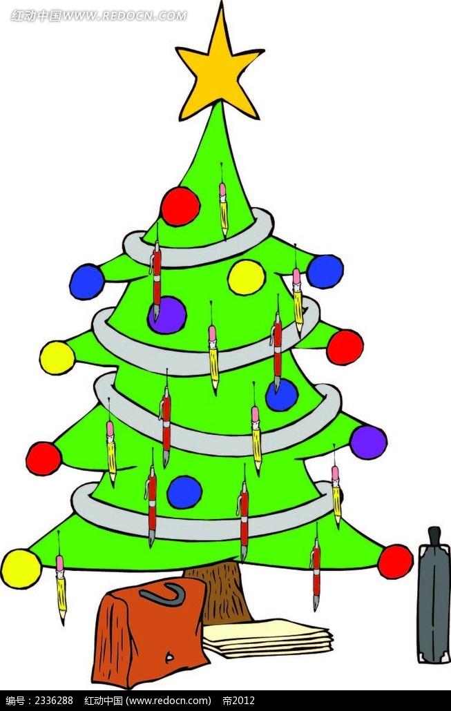 圣诞树画画图片_圣诞树儿童画