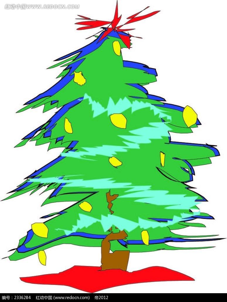 简单圣诞手绘树