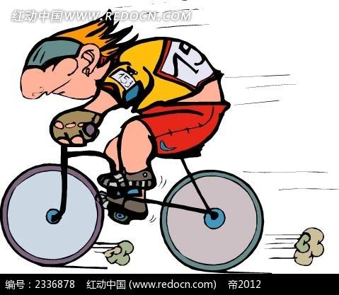 自行车赛手手绘画