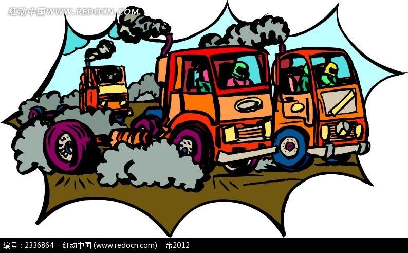 现代科技 交通工具 > 卡车交通事故现场手绘图