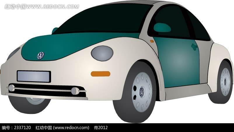 大众甲壳虫汽车手绘图