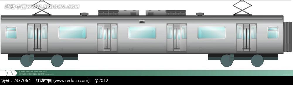 火车手绘侧面图