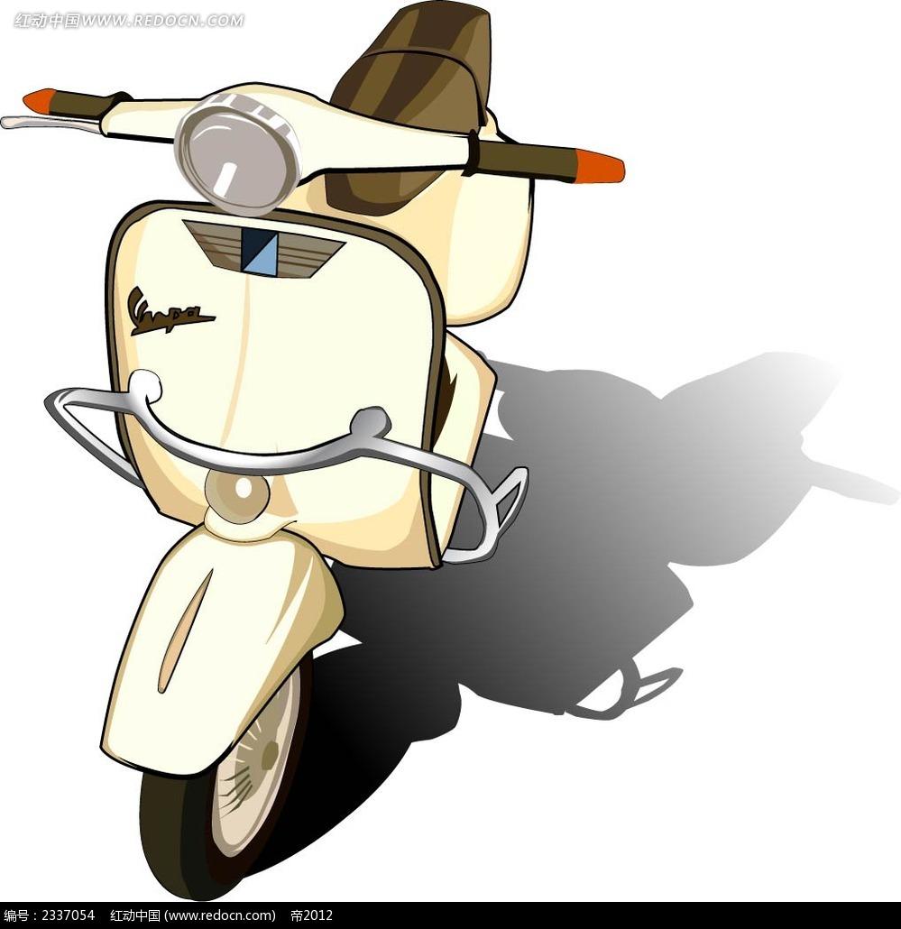 女士摩托车手绘画