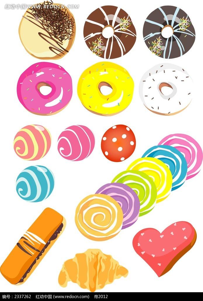 糖果甜点手绘图