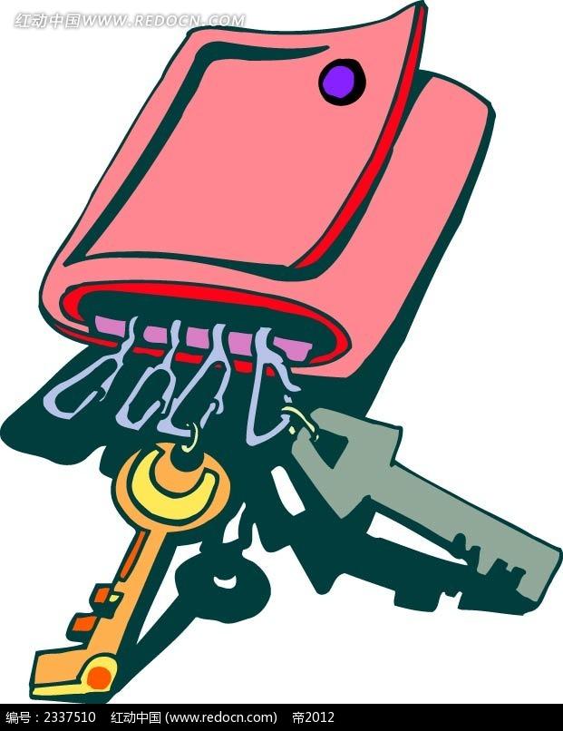 钥匙包手绘图