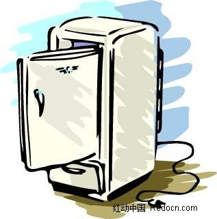 冰箱手绘线描图