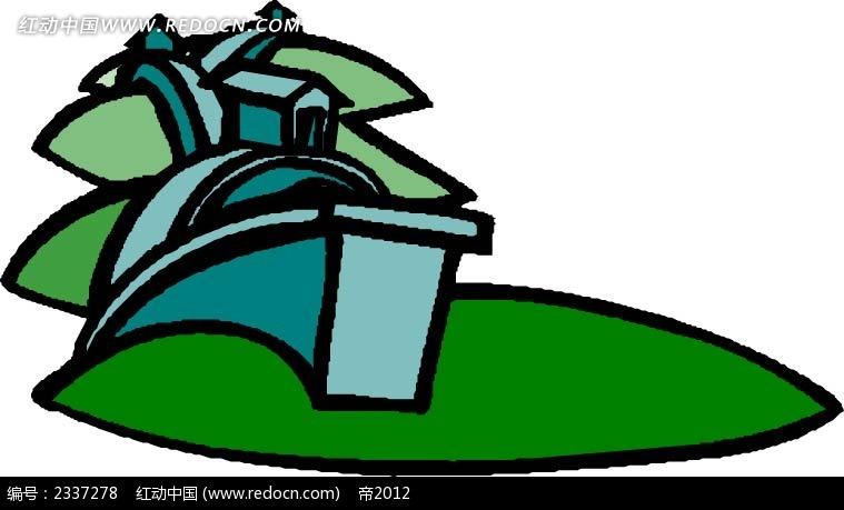 乡村手绘线描图