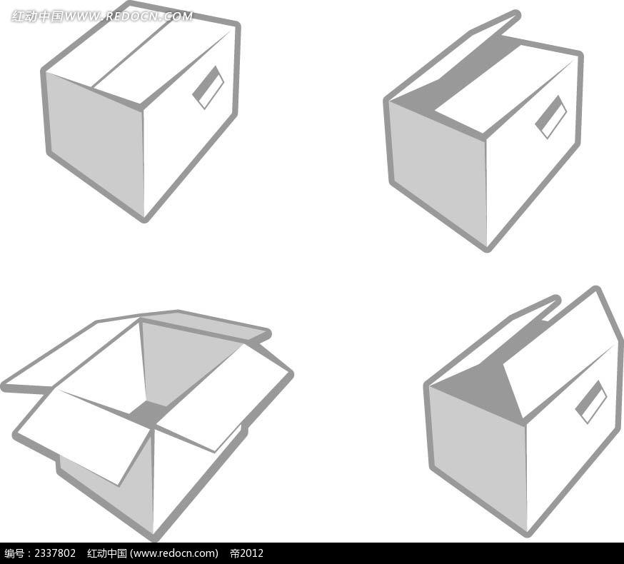 纸盒手绘画