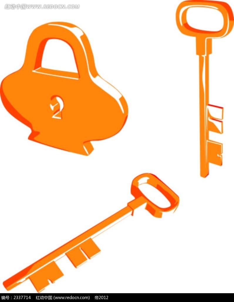 锁钥匙手绘图