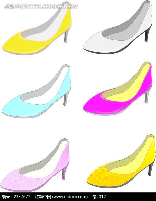 女士时尚高跟鞋鼠绘图  手绘画 手绘图形 图形图标 图形设计 手绘