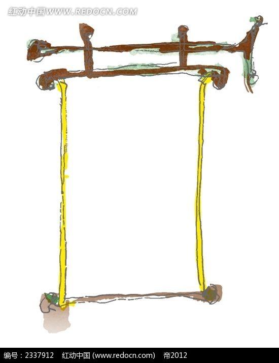 简约手绘复古边框