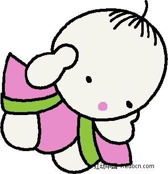手绘捂耳朵的小孩子漫画psd免费下载_卡通人物素材