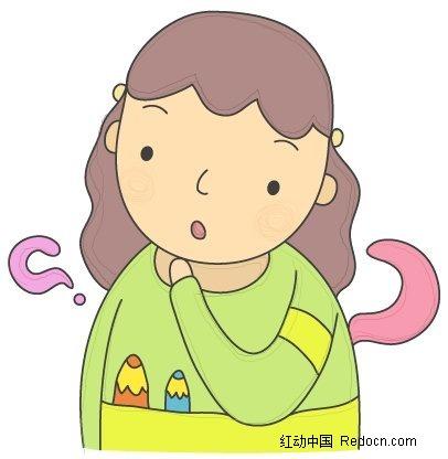 有疑问的小孩子人物插画_卡通人物