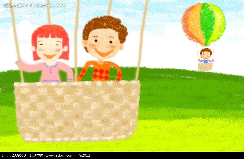 坐着热气球的高中漫画人物_男女漫画人物v高中卡通123图片