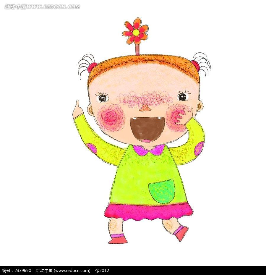 打雨伞的小女生时尚插画_卡通人物_红动手机版