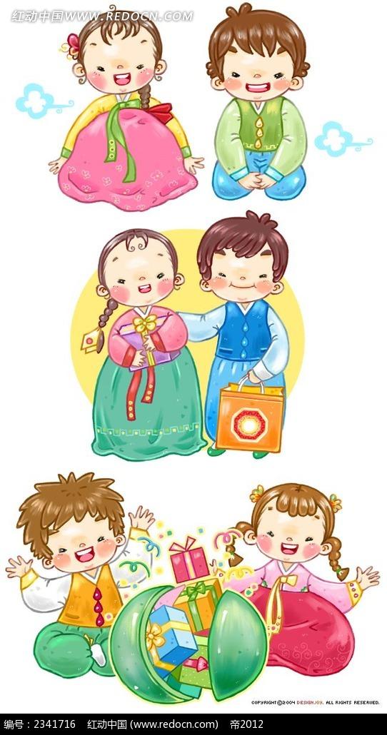 韩国手绘礼物小夫妻韩国漫画_卡通人物