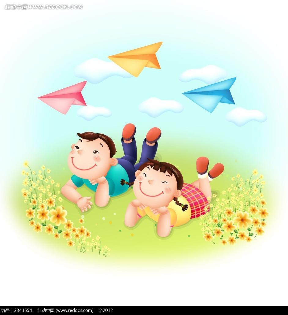 放飞梦想的儿童PSD素材免费下载 红动网图片