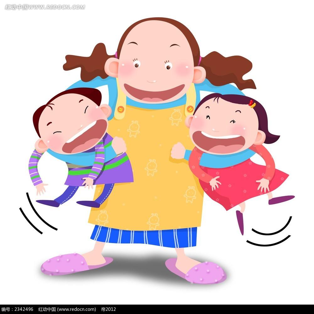 抱小孩的妈妈_卡通形象