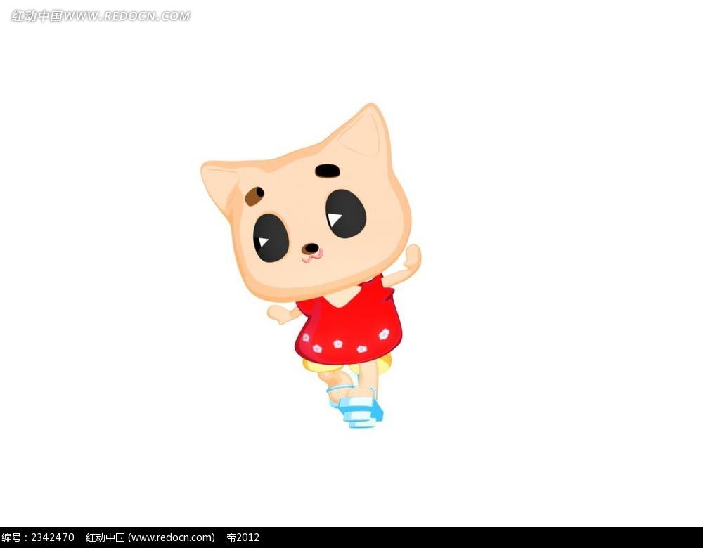 可爱大眼睛小猫咪卡通漫画