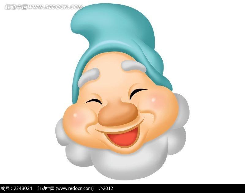 可爱白雪公主小矮人头像韩国人物插画