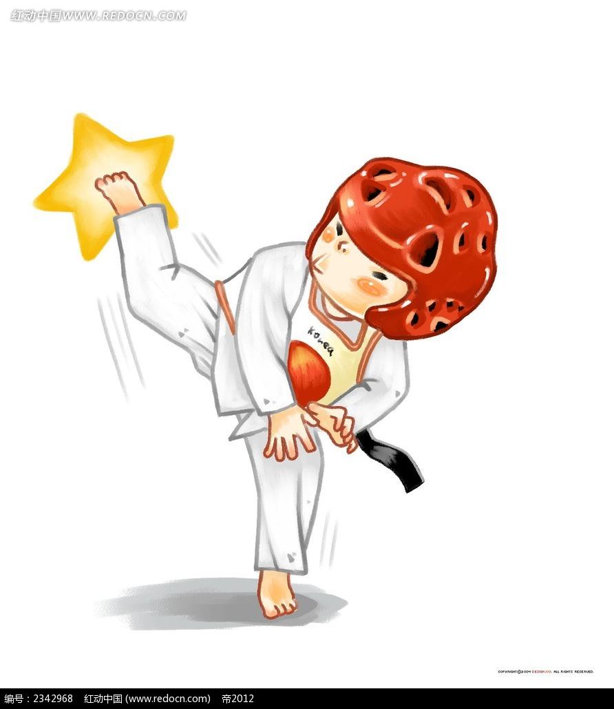 跆拳道qq头像动漫图片