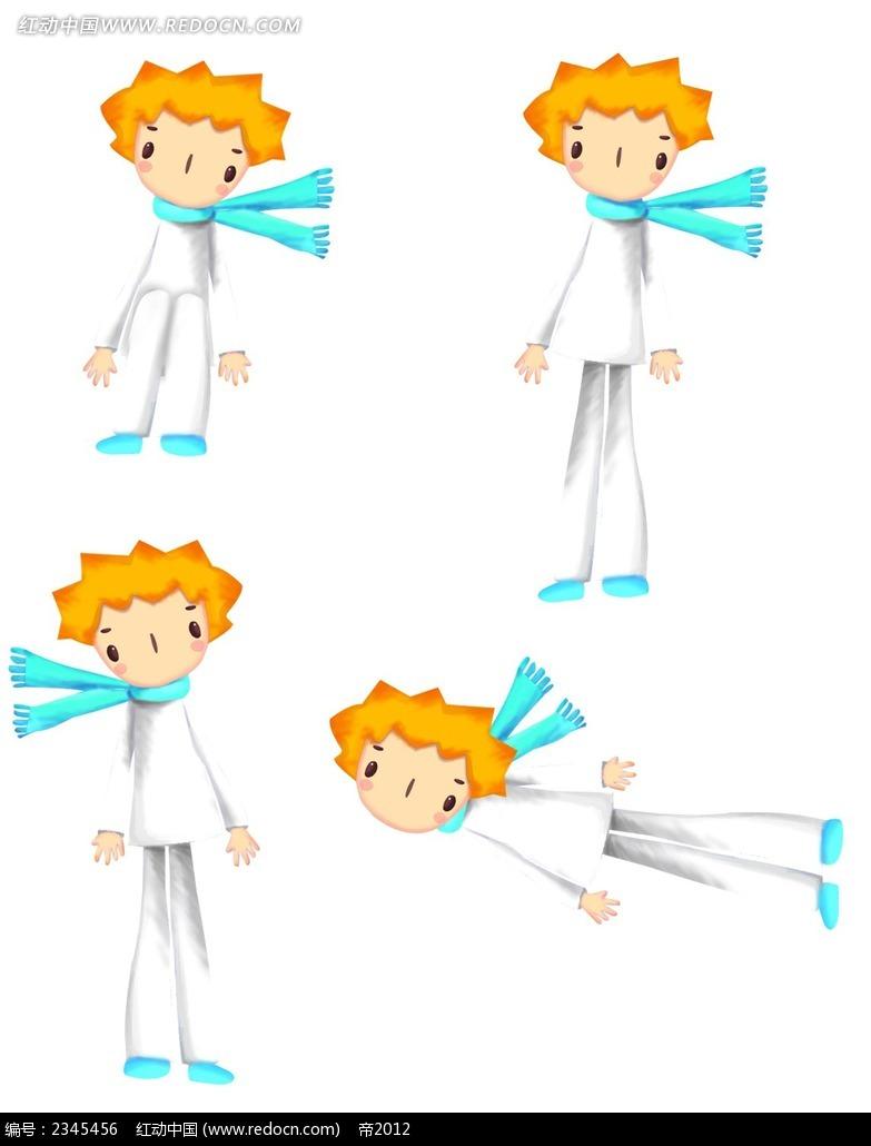 飞翔的小王子时尚人物插画