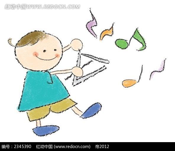 拿着气球飞翔的小孩子韩国人物插画_卡通人物_红动