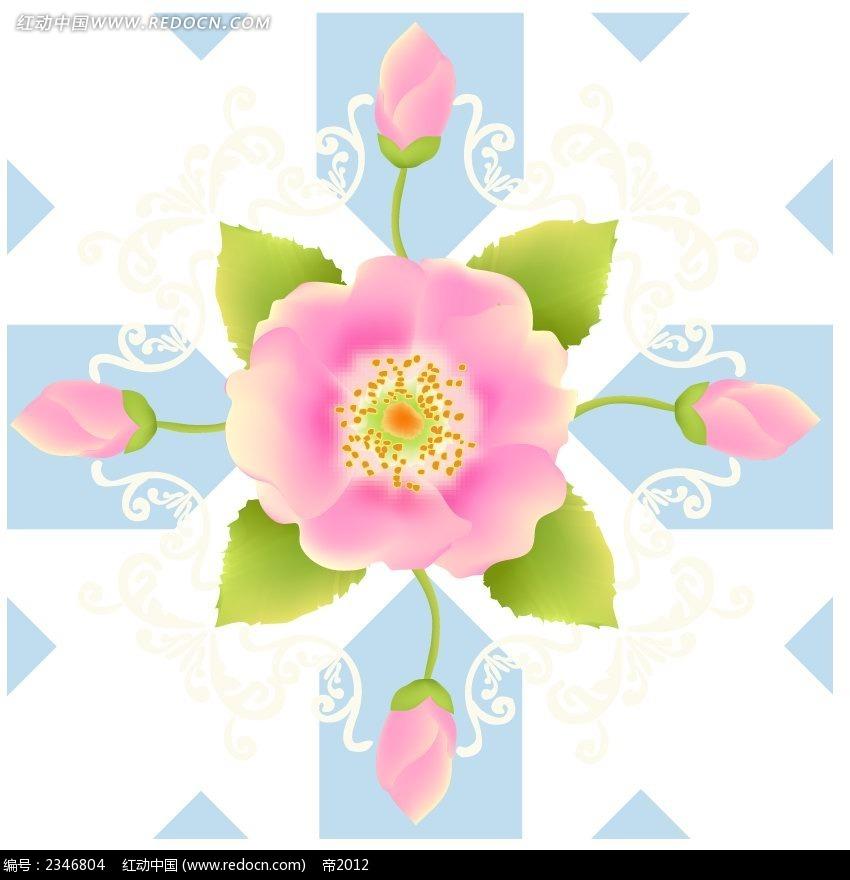 手绘玫瑰花背景图案