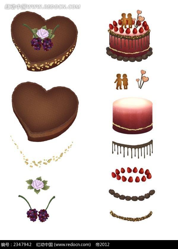 巧克力蛋糕手绘漫画