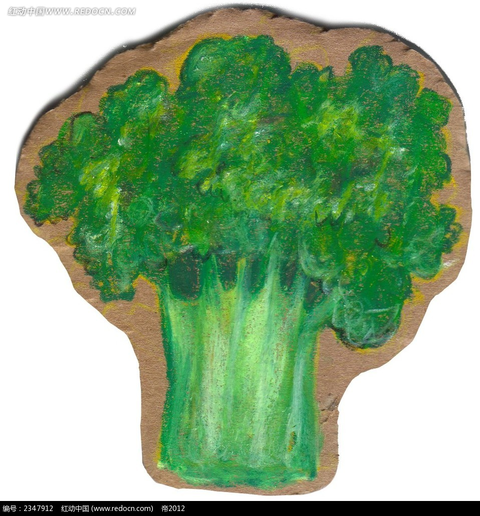 彩色手绘芹菜