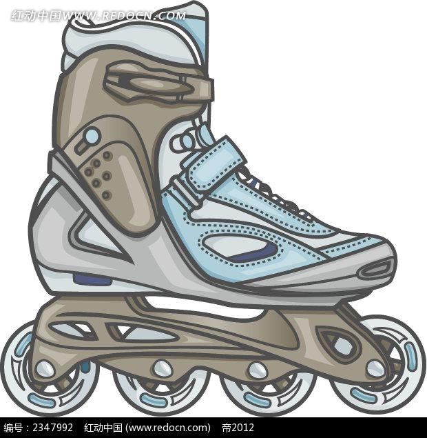 小轮滑鞋手绘漫画