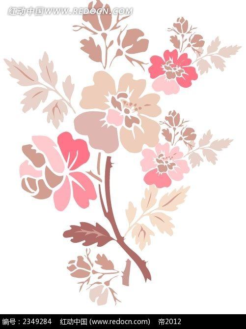 典雅手绘花朵psd素材