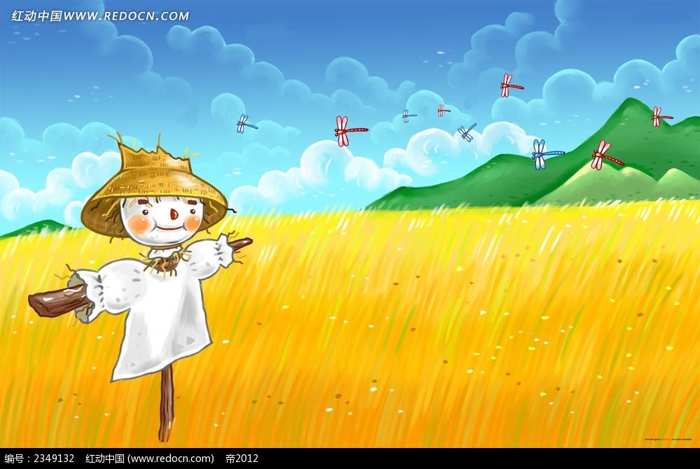 Поле с пшеницей рисунок