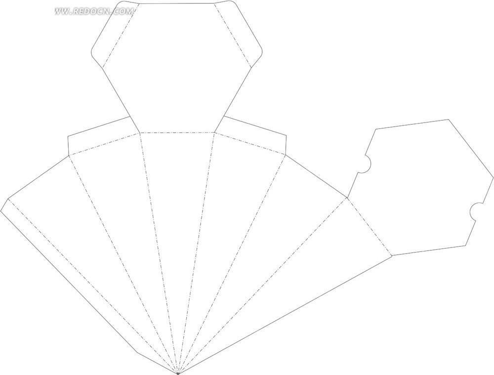 包装盒结构展开图图片