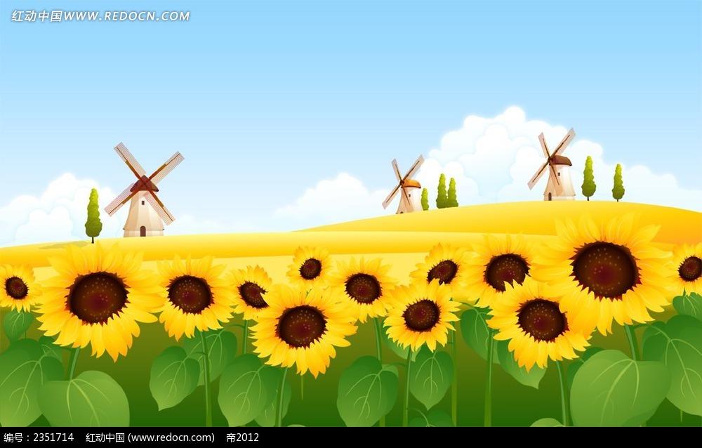 向日葵简笔画图片大全_简单漂亮的向日葵(7)