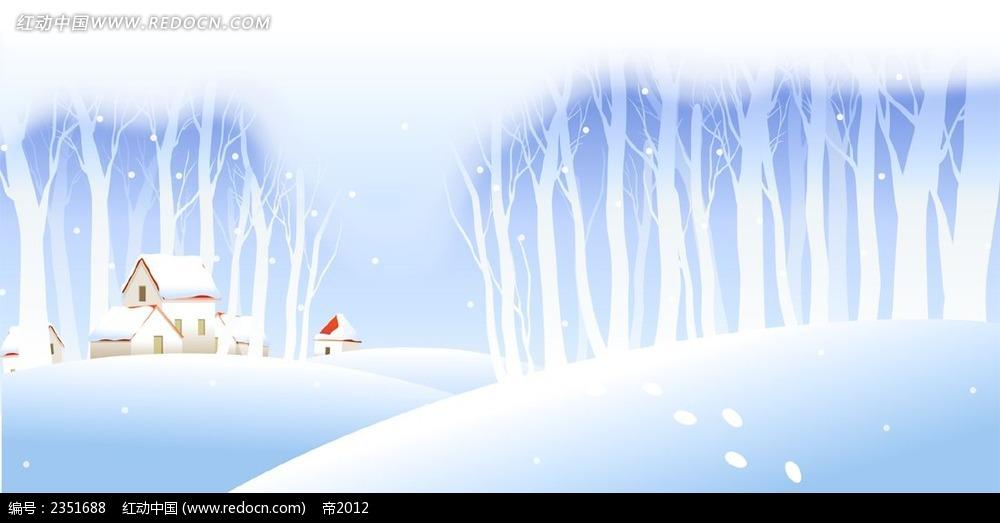 冬天雪花漫画景色图_冬天下雪的背景图相关图片展示_冬天下雪的背景图图片下载