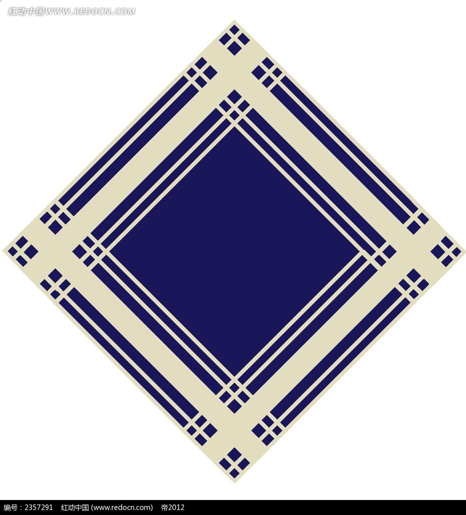蓝色方框psd素材