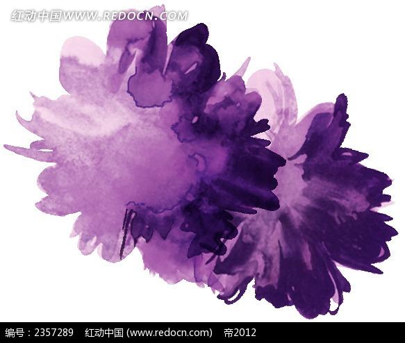 手绘紫色抽象花