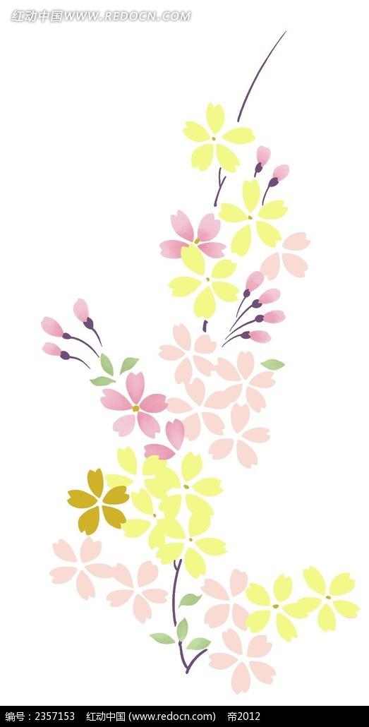 免费素材 psd素材 psd花纹边框 花纹花边 美丽的手绘小碎花psd素材