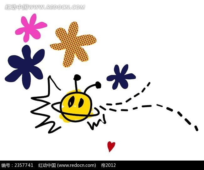 随笔儿童涂鸦简笔画PSD免费下载 花纹花边素材