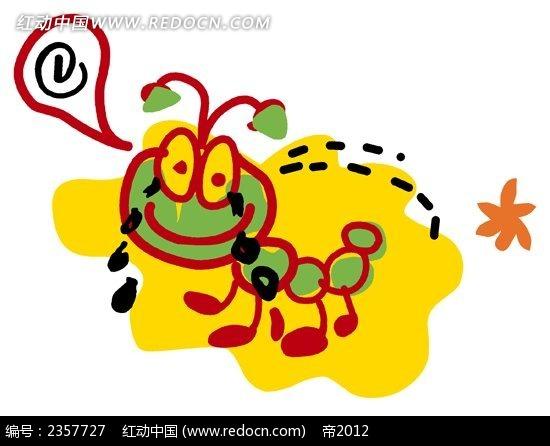 小蚂蚁儿童涂鸦简笔画PSD素材免费下载 红动网