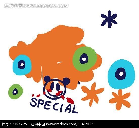 小熊猫儿童涂鸦简笔画